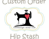 Reserved Listing for St0ickat HIP STASH in Black/White Brushed Hound to match Hooded Scarft