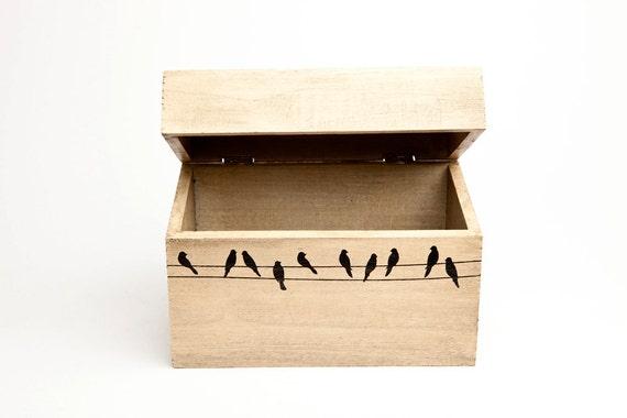 Birds on a Wire Recipe Box