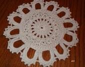 Custom order - Crocheted Ecru Doily (e02) - Paulette
