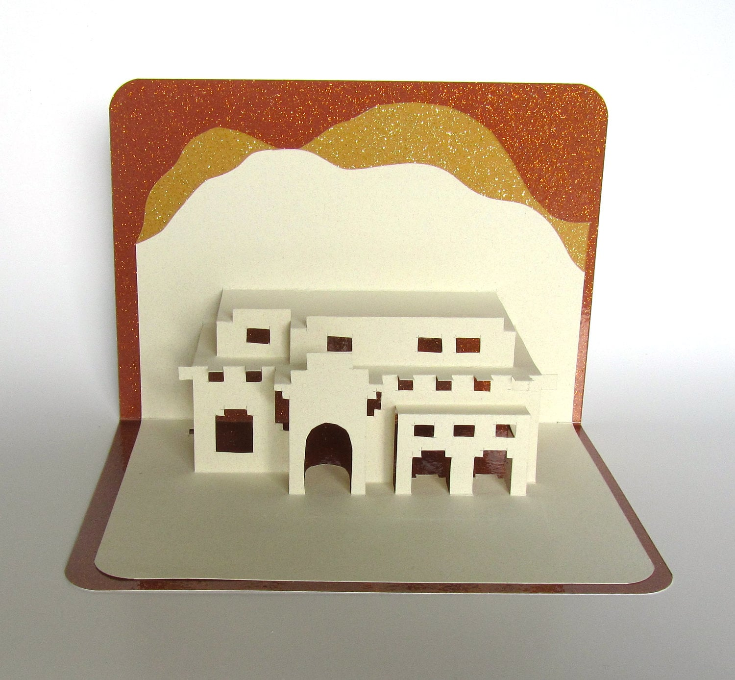 santa fe house pop up 3d card home d cor origamic architecture. Black Bedroom Furniture Sets. Home Design Ideas