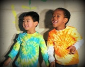 Cute Boys Blue, Yellow and Green Tie Dye Top - 2T