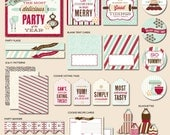 Holiday Cookie Exchange - Instant Download PRINTABLE Party Kit
