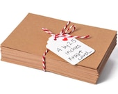 Kraft paper business cards. DIY blank cards 2.5 by 4 inch 100 Pack 3 styles