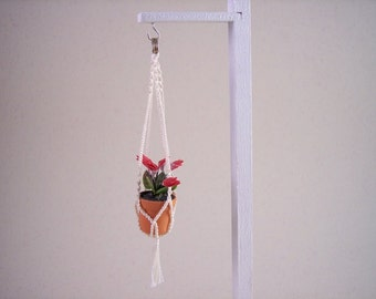 miniature macrame plant hanger 1 inch scale