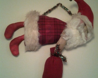 Primitive Flying Santa Cloth Doll Traditional