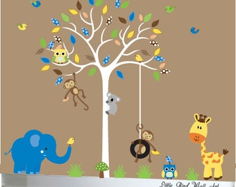 Wall decal tree baby wall decal sticker bright colors - 023