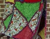 reversible crazy quilt, safari rag quilt - marylandquilter