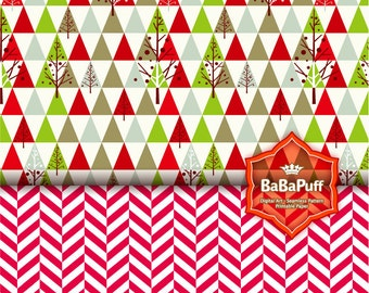 Instant Downloads, 10 Christmas Digital Papers, Print Papers DIY for Your Handmade Projects --- Personal and Small Commercial Use. BP 0716