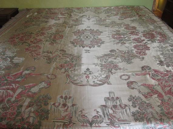 Reserved-Vintage Coverlet or Bedspread, Italian Silk