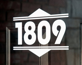 Address with Border 11 (Small) - Vinyl Decal