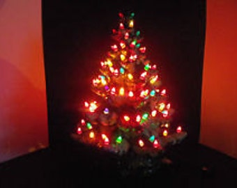 "25"" Atlantic Christmas tree green extra snow and extra lights"
