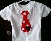 Mouse polka dot tie t-shirt