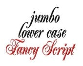 """Jumbo LOWER CASE Fancy Script - Machine Embroidery Font - Sizes 5"""",6"""",7"""" and 5x7 Hoop - Buy 2 get 1 FREE"""