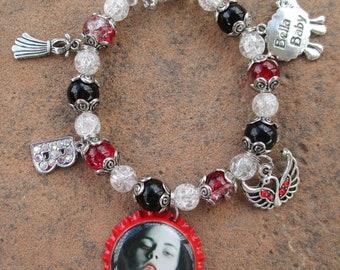 Bloody Bella Bottle Cap Charm Bracelet
