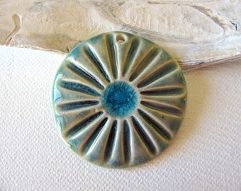 Ocean Blue Sea Flower Pendant