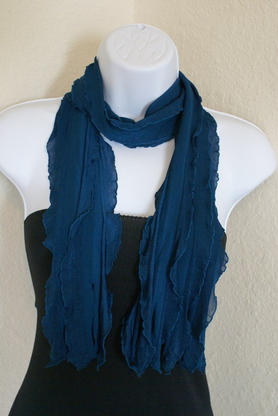 Blue soft scarf for men and for women for unisex adults