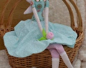 Flower Fairy cloth fabric doll great gift idea - made to order