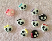 10pc Assorted Color Skulls Mini Flat Back Resins Cabochons Nail Art Decoration btr27