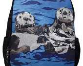 Sea Otter Book Bag,Backpack by Salvador Kitti  -From My Original Painting, Best Friends