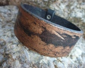 Leather Bracelet.Brown Cool Single Band Surfer Leather Bracelet .Cuff.Unisex.