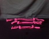 Custom Order for denisearway. Dog Toys. Set of 3 Balck and Pink Crochet Dog Ropes.