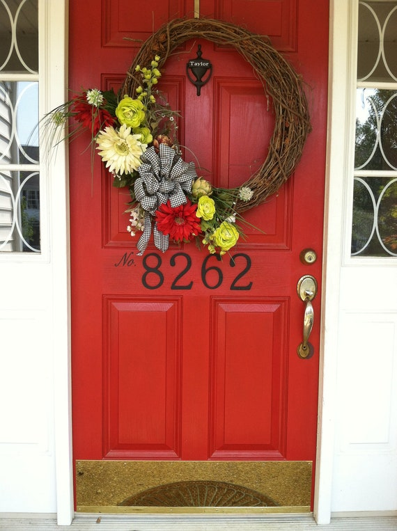 Vinyl Door House Number Decal