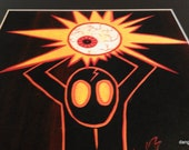 Sweet Large The Deadly Eye Matted 16x20 Reproduction