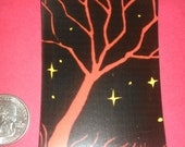 Radical Red Tree Silhoutte Magnet Dangling Fury