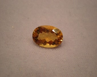 Genuine oval citrine gemstone birthstone November birthday healing loose gemstone