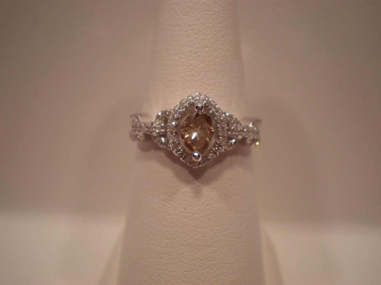 Champagne Diamond Engagement Ring By Dianekramerllc On Etsy