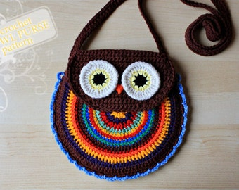 Crochet Pattern - Crochet Owl Purse (Pattern No. 005) - INSTANT DIGITAL DOWNLOAD