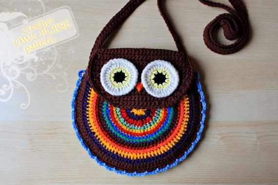 Crochet Pattern Crochet Owl Purse