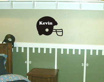 Personalized Football Helmet wall decal removable sticker