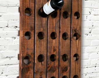 Riddling Rack Wine Rack Wood Wall Hanging