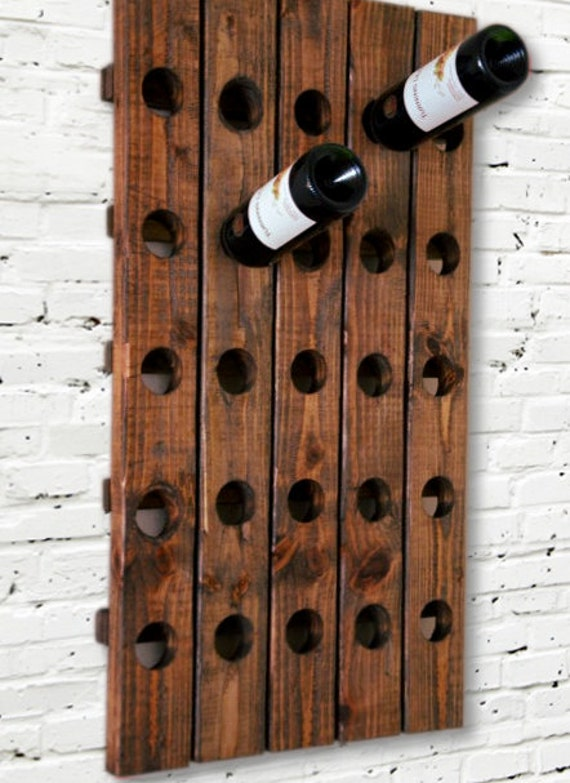 Wine Rack Antique Riddling Rack Wood Wall Hanging