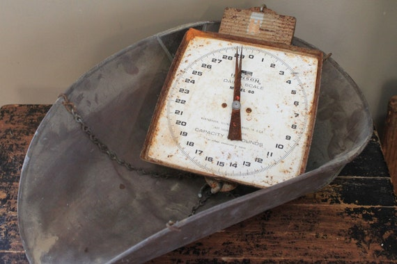 Vintage Hanson Hanging Dairy Scale