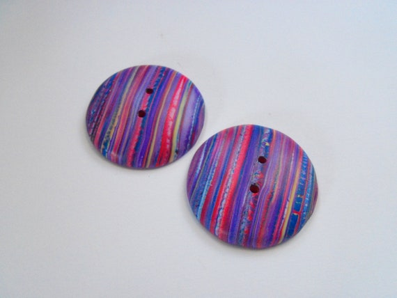 Polymer Clay Buttons, 1 1/2 inch