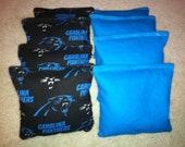 Carolina Panthers Cornhole Bags Set of 8 ACA Certified