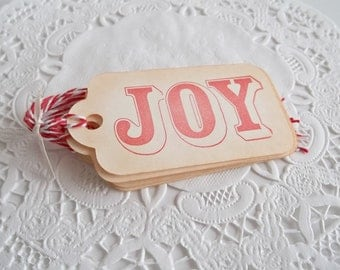 6 Christmas Joy Gift Tags, Christmas Gift Tags, Joy Gift Tags, Holiday Gift Tags, Christmas Gift Ideas, Holiday Gift Wrap, Étiqettes Noel