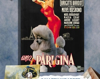 Poodle Print Fine Art Canvas - Une Parisienne Movie Poster NEW COLLECTION by Nobility Dogs