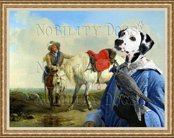 Dalmatian Dog Art CANVAS Print Fine Artwork  Dog Portrait Dog Painting Dog Art Dog Print  Perfect Dog Lover Gift for Her Gift for Him