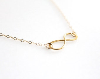 Infinity Necklace // Gold or Silver