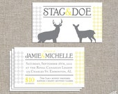 Stag and Doe Tickets - 250 or 500 double sided tickets and digital poster by YellowBrickStudio