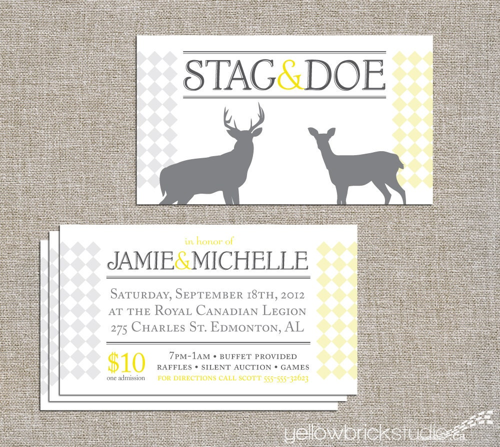 stag and doe tickets 250 or 500 double sided tickets and
