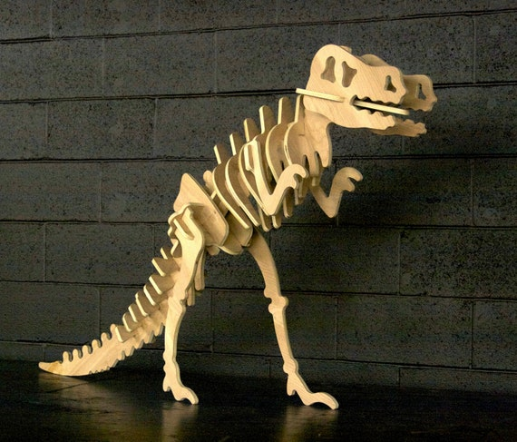 Giant Wood T-Rex Dinosaur Puzzle 3 Foot Tall and 5 Feet Long!