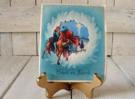 Four vintage Christmas cards Wise Men Magi 1940s 1950s