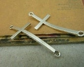 10 pcs 22x52mm The Cross  Silver color Pendant Charm For Jewelry Pendant C3168
