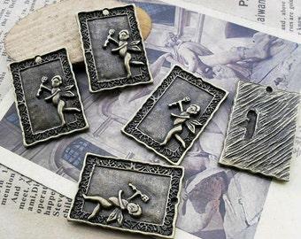 10pcs 21x31mm The Angel  Antique Bronze Retro Pendant Charm For Jewelry Necklace Charms Pendants C485