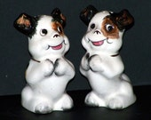 Vintage Anthropomorphic Dog Theme Salt and Pepper Shakers