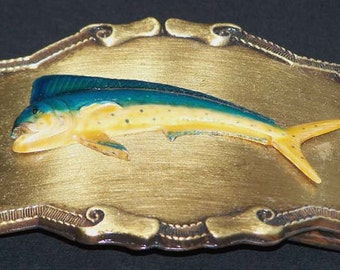 Raintree Buckle and Jewelry Inc Marlin Brass Belt Buckle